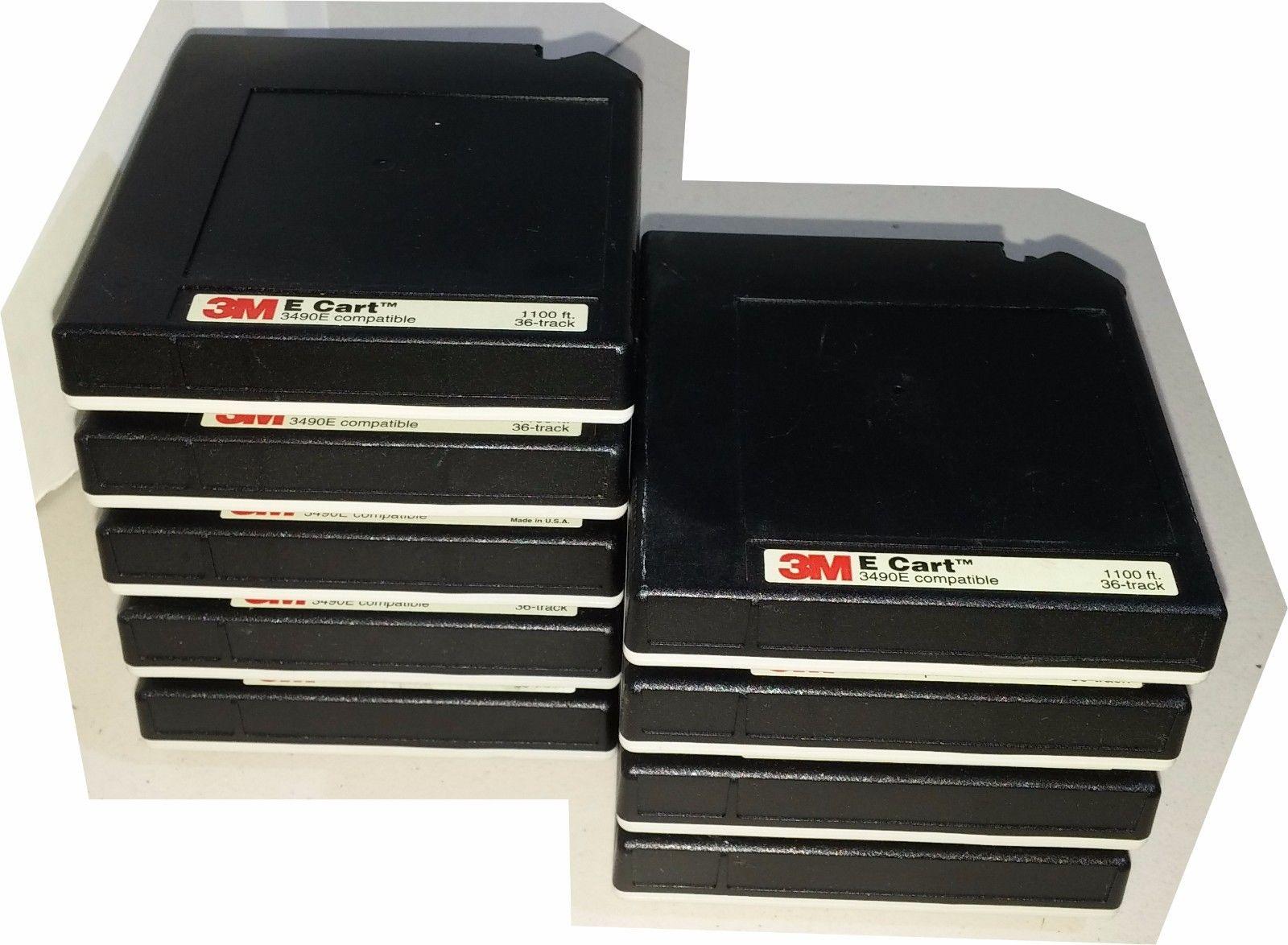 3M E Cart 3490E 1 2 Tape Cartridge LOT OF 9 42473 Adhesive Networks